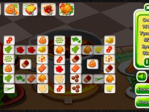 Онлайн игра Маджонг: Приготовление Еды (Cooking Mahjong) (изображение №3)