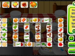 Онлайн игра Маджонг: Приготовление Еды (Cooking Mahjong) (изображение №4)