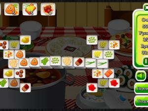 Онлайн игра Маджонг: Приготовление Еды (Cooking Mahjong) (изображение №5)