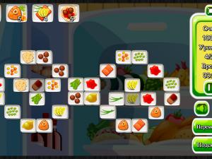 Онлайн игра Маджонг: Приготовление Еды (Cooking Mahjong) (изображение №6)