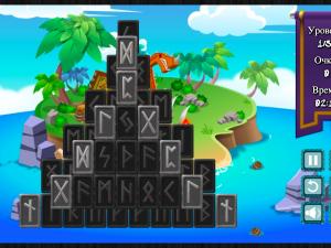 Онлайн игра Маджонг Руны (Rune Mahjong) (изображение №2)