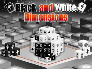 Маджонг Черное и Белое 3D