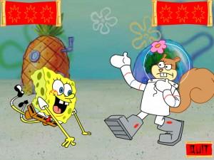 Онлайн Игра Спанч Боб и Сэнди практикует каратэ (Kahrahtay Contest) (изображение №5)