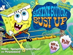 Онлайн игра Губка Боб Бикини Боттом Битва (Sponge Bob Bikini Bottom Bust Up) (изображение №5)