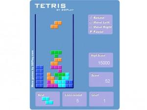 Ретро игра Tetris 2D