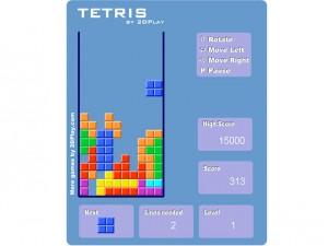 Онлайн Ретро игра Tetris 2D (изображение №3)