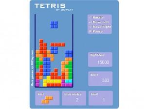 Онлайн Ретро игра Tetris 2D (изображение №4)