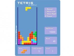 Онлайн Ретро игра Tetris 2D (изображение №5)