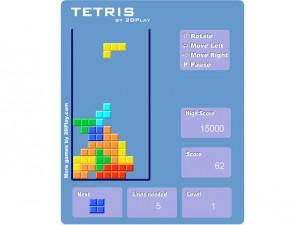 Онлайн Ретро игра Tetris 2D (изображение №6)