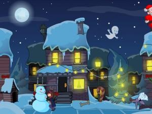 Онлайн игра Caspers Haunted Christmas (Каспер и привидения в Рождество) (изображение №3)