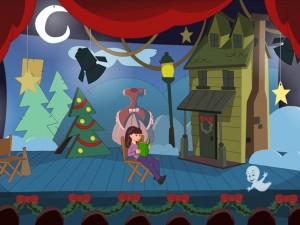 Онлайн игра Caspers Haunted Christmas (Каспер и привидения в Рождество) (изображение №4)