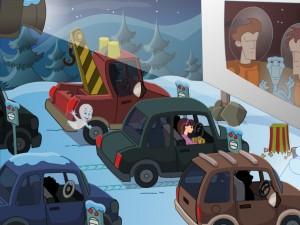 Онлайн игра Caspers Haunted Christmas (Каспер и привидения в Рождество) (изображение №5)