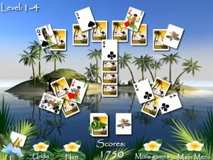 Онлайн игра Пасьянсы Багамы (Bahama Tripeaks) (изображение №1)
