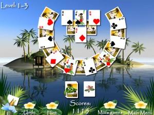 Онлайн игра Пасьянсы Багамы (Bahama Tripeaks) (изображение №2)