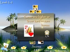 Онлайн игра Пасьянсы Багамы (Bahama Tripeaks) (изображение №3)