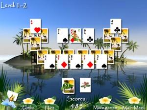 Онлайн игра Пасьянсы Багамы (Bahama Tripeaks) (изображение №4)