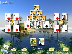 Онлайн игра Пасьянсы Багамы (Bahama Tripeaks) (изображение №5)