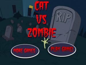 Кот против зомби